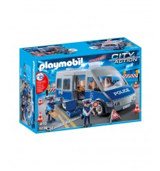 Playmobil 9236 van of the police with roadblock 9236 Playmobil- Futurartshop.com