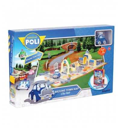 Robocar poli road map of city hall with character the musty 21737108 Rocco Giocattoli- Futurartshop