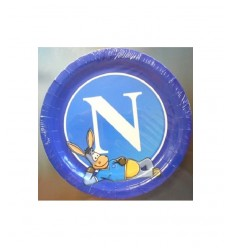 8 piatti da 24 centimetri SSC Napoli 66000 New Bama Party-Futurartshop.com