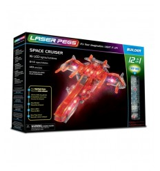 Laser pegs space ship light 12-in-1 L12010 Giochi Preziosi- Futurartshop.com