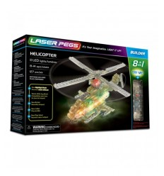 Laser pegs helicopter light 8-in-1 L81012 Giochi Preziosi- Futurartshop.com