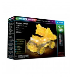 Laser pegs bulldozer with 4 in 1 L41014 Giochi Preziosi- Futurartshop.com