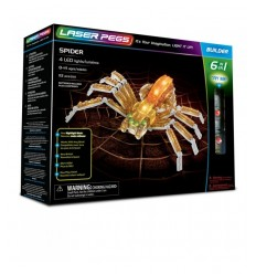 Laser pegs spider luminoso 6 in 1 L61015 Giochi Preziosi-Futurartshop.com