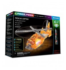 Laser pegs helicopter light 6-in-1 L61014 Giochi Preziosi- Futurartshop.com