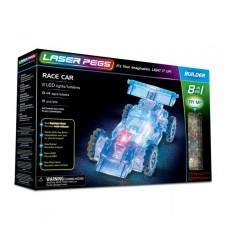 Laser pegs racing car bright 8-in-1 L81010 Giochi Preziosi- Futurartshop.com