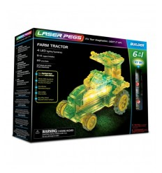 Laser pegs tractor light 6-in-1 L61011 Giochi Preziosi- Futurartshop.com