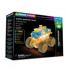 Laser pegs super monster truck light 6-in-1 L61010 Giochi Preziosi- Futurartshop.com