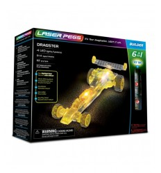 Laser pegs dragster luminoso 6 in 1 L61012 Giochi Preziosi-Futurartshop.com