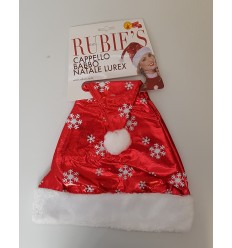 Hat santa claus lurex en storlek IT00110 Rubie's- Futurartshop.com