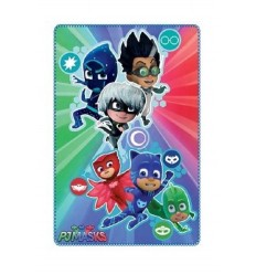 Plaid invernale pj masks fondo multicolor 100 x 150 centimetri PJ-HQ4416/4128 4M-Futurartshop.com