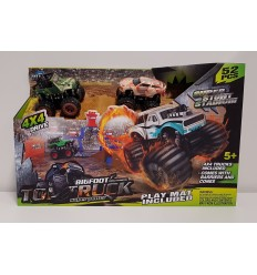 Track moster 4x4 with obstacles 2 models