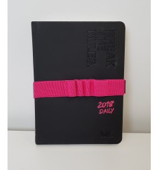 Diary calendar mini 12 month me-evolution day with elastic 2 colors