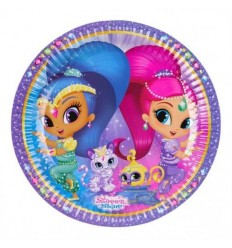 Shimmer Shine 8 plats de 23 cm 9902152 New Bama Party- Futurartshop.com