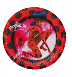 Lady Bug 8 plats 18 cm NBP1462 New Bama Party- Futurartshop.com