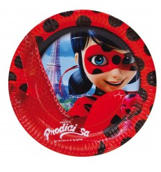 Lady Bug 8 plats de 23 cm NBP1437 New Bama Party- Futurartshop.com
