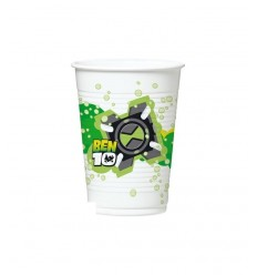 10 plastic cups 20 cl Ben 10 disposable 119502 Como Giochi - Futurartshop.com