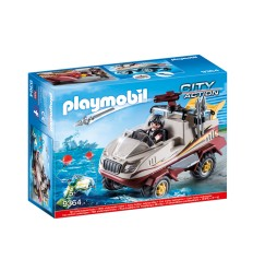 Playmobil 9364 Voiture amphibie des criminels 9364 Playmobil- Futurartshop.com