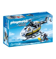 Playmobil 9363 Helicopter with scuba diver special unit 9363 Playmobil- Futurartshop.com