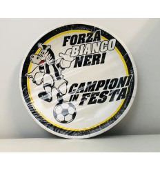 Dishes in paper Juventus 22 cm 164160 Cartorama- Futurartshop.com