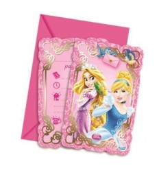 Disney Princesses set de 6 invitations avec des sachets de thé 99582650 New Bama Party- Futurartshop.com