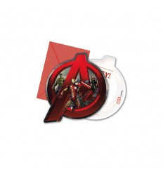 Avengers age of Ultron-set de 6 invitations avec des sachets de thé 99585400 New Bama Party- Futurartshop.com