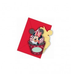 Minnie mouse café set med 6 inbjudningar med te-påsar 5PR82676 New Bama Party- Futurartshop.com