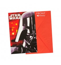 Star Wars Bataille Finale set de 6 invitations avec des sachets de thé 5PR84397 New Bama Party- Futurartshop.com