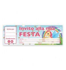 Les billets, invitations, la Licorne, 20 pcs 62031 New Bama Party- Futurartshop.com