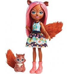 Enchantimals bambola sancha squirrel e stumper FNH22/FMT61 Mattel-Futurartshop.com