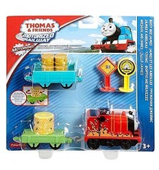 Thomas und friends motorized railway charakter busy bee james DHC50/DHC70 Mattel- Futurartshop.com