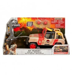 Jurassic World - el Jeep con la trampa de la red FNP46 Mattel- Futurartshop.com
