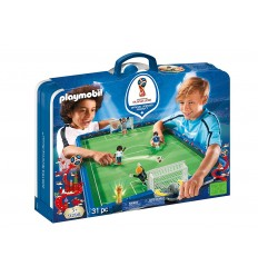 Playmobil 9298 Terrain de football portable du monde de la FIFA 2018 9298 Playmobil- Futurartshop.com