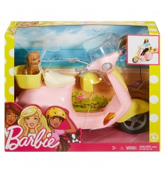 Barbie scooter rosa con puppy FRP56 Mattel-Futurartshop.com