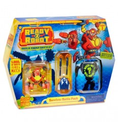 Ready2Robot Battle Pack - Survivor RED01000/1 Giochi Preziosi- Futurartshop.com