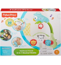 Fisher-Price - Giostrina Animali della Foresta 3 in 1 CHR11-A Mattel-Futurartshop.com