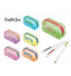 Чехол из пвх с 3 bic crystal up 6 цветов COL18580 Colourbook- Futurartshop.com
