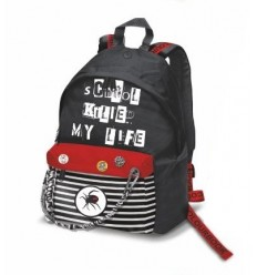 Backpack american killed colourbook red and black COL18150 Colourbook- Futurartshop.com