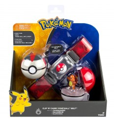 Pokemon clip n carry Poke Ball Cintura- Charmander T18889/T19206 Tomy-Futurartshop.com