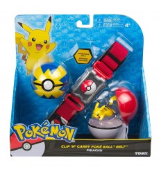 Pokemon clip n carry poke ball cintura - Pikachu T18889/T19220 Tomy-Futurartshop.com
