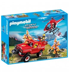 Playmobil 9518 firefighters in mission 9518 Playmobil- Futurartshop.com
