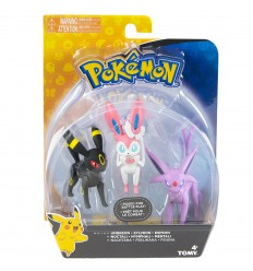 Pokemon Blister con 3 personaggi - Umbreon - Sylveon - Espeon T19115/T19131 Tomy-Futurartshop.com