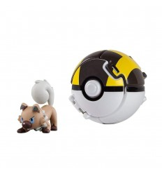 Pokemon throw'n'pop personaggio rockruff con ultra ball T18873/T19113 Tomy-Futurartshop.com
