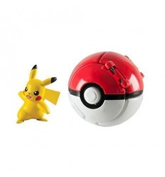 Pokemon throw'n'pop personaggio pikachu con poke ball T18873/T19116A Tomy-Futurartshop.com