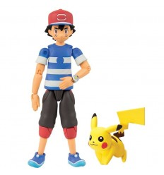 pokemon action figures personaggi ash con pikachu T18515/T18516 Tomy-Futurartshop.com