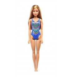 Barbie beach costume blue DWJ99/FJD97 Mattel- Futurartshop.com