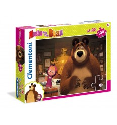 Puzzle maxi masha and the bear 104 pieces 23710 Clementoni- Futurartshop.com