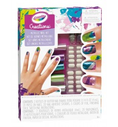 Creations Set to Decorate your Nails with Metallic Effects 04-0464 Crayola- Futurartshop.com