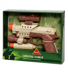 Gun military with the viewfinder and silencer, lights and sounds HDG30141 Giochi Preziosi- Futurartshop.com