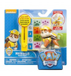 Paw patrol action pack pup character rubble back flip 6022626/20087334 Spin master- Futurartshop.com