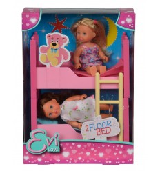 Evi love bunk bed, and 2 mini dolls 105733847 Simba Toys- Futurartshop.com